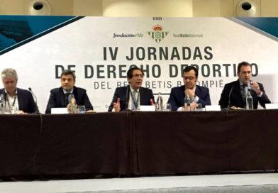 Ildefonso Gómez participa en las IV Jornadas de Derecho Deportivo del Real Betis Balompié