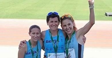Lola Chiclana logra dos oros y una plata en el Campeonato de Andalucía Máster de Atletismo