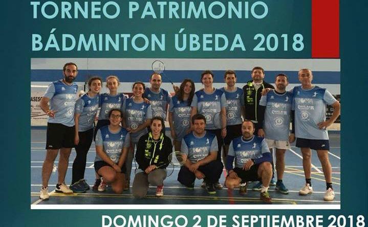 Úbeda acogerá el 2 de septiembre el Torneo Patrimonio de Bádminton