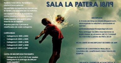 Los jóvenes de JAC preparan un nuevo campeonato de fútbol sala en 'La Patera'