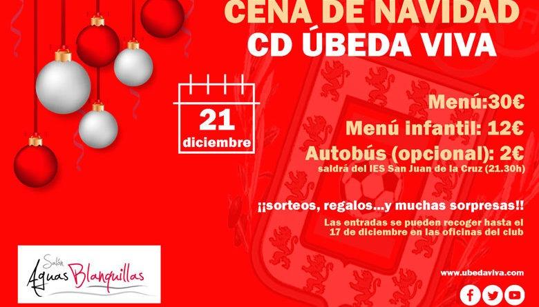 El CD Úbeda Viva organiza su cena de Navidad para el 21 de diciembre