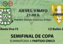 El Úbeda Viva FS se juega en casa las semifinales de la Copa Presidente