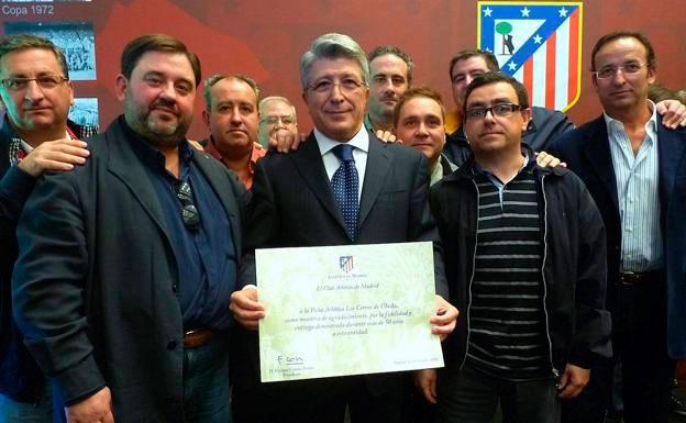 Enrique Cerezo asistirá al 60 aniversario de la Peña del Atlético de Madrid de Úbeda