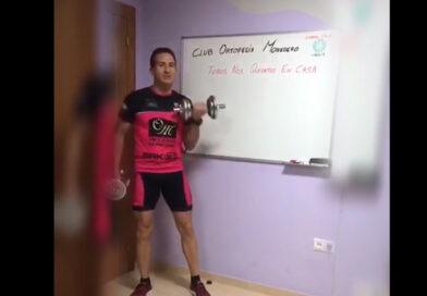 El Club Ortopedia Monedero publica un vídeo con el entrenamiento en casa de sus deportistas