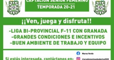 El Úbeda Viva anuncia una campaña de captación para la sección de fútbol femenino