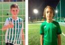 Los alevines del CD Úbeda Viva, Iván Moreno y Mario Barella, completan un entrenamiento con el Real Betis